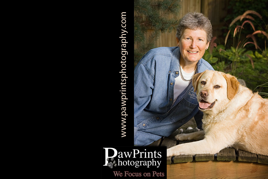 Suzanne Fauber and dog Scout
